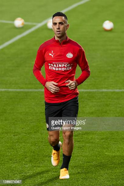 Eran Zahavi of PSV Eindhoven looks on during training session ahead of the UEFA Europa League Group E stage match between PSV Eindhoven and Granada...