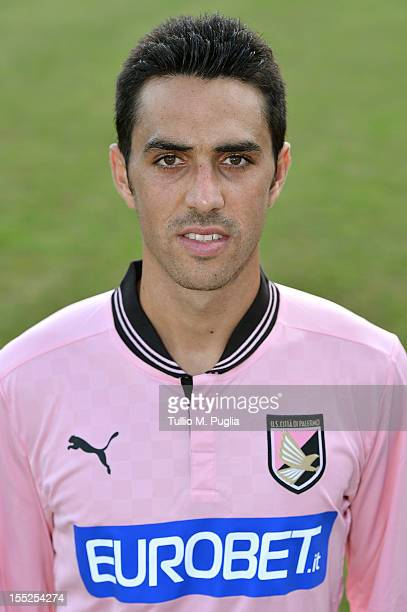 Eran Zahavi poses for the team's official headshot after a Palermo training session at Tenente Carmelo Onorato Sports Center on November 2 2012 in...