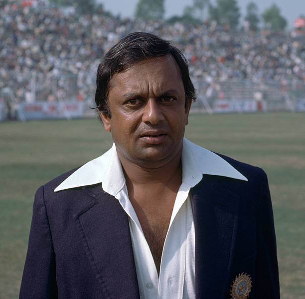 Erapalli Prasanna of India during the 2nd Test match between Pakistan and India at the Gaddafi Stadium Lahore Pakistan 27th October 1978
