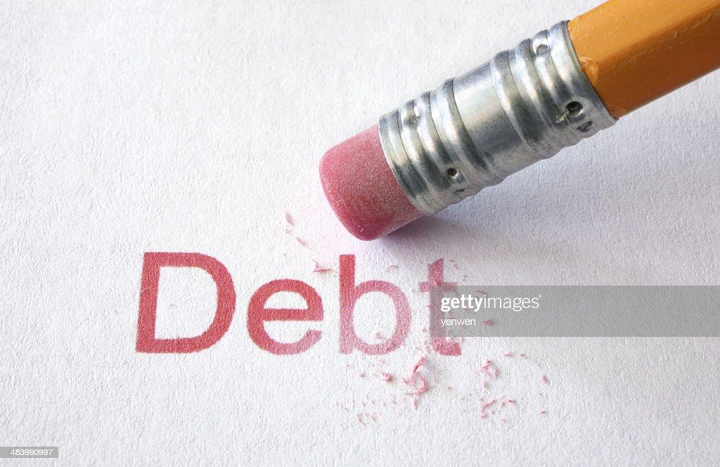 Erase Debt : Stock Photo