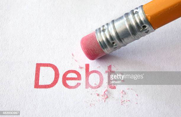 erase debt - absence stock pictures, royalty-free photos & images