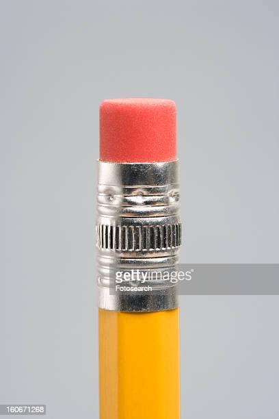 Eraser end of pencil
