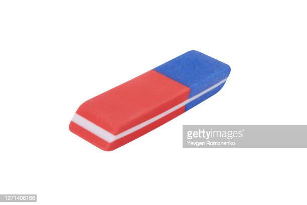 eraser isolated on white background - eraser stock pictures, royalty-free photos & images