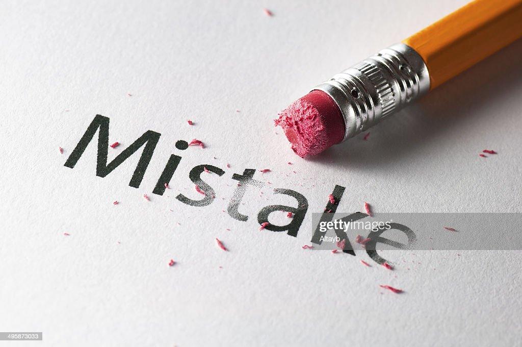 Erasing mistake : Stock Photo