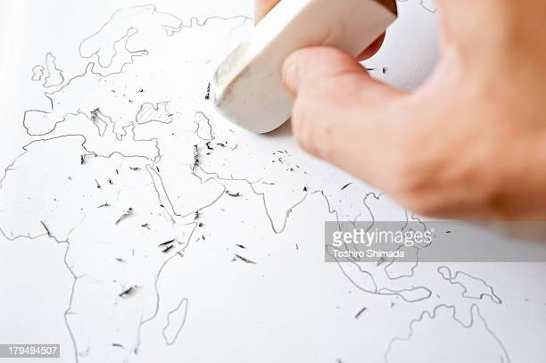Erasing world map's border