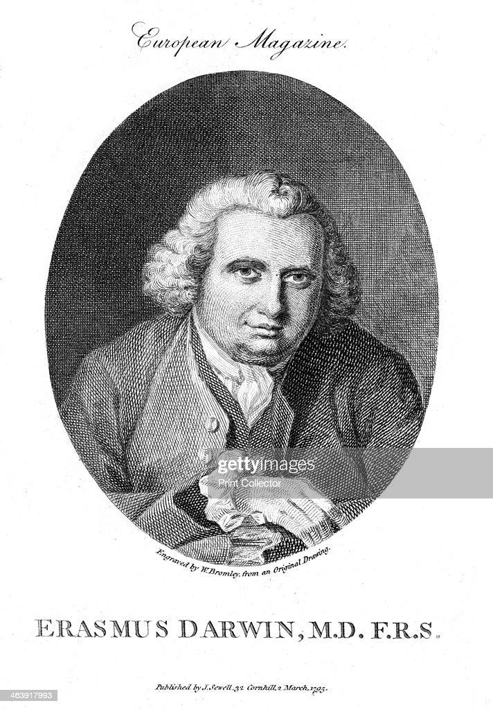 Erasmus Darwin, English physician and naturalist, 1795. : News Photo