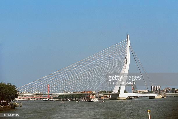 Erasmusbrug 19891996 bridge across the New Meuse architect Ben van Berkel Rotterdam Netherlands 20th century