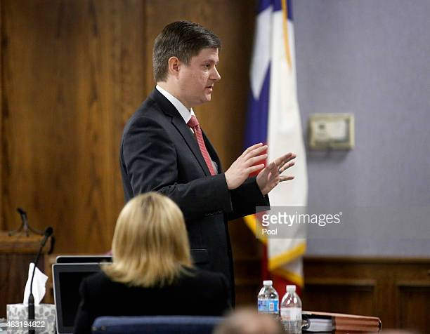 Erath County District Attorney Alan Nash delivers his opening statements during the first day of the capital murder trial of former Marine Cpl Eddie...