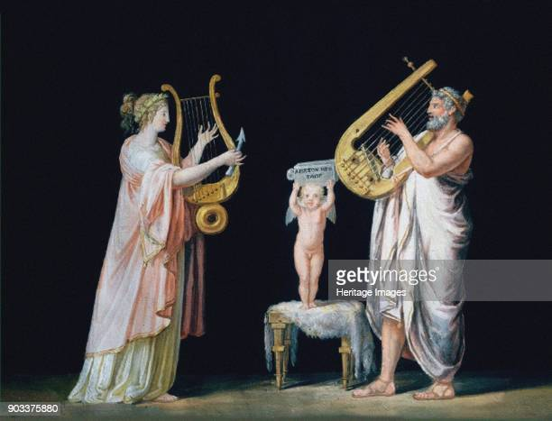Erato and Pindar Found in the Collection of Museo Gipsoteca Antonio Canova