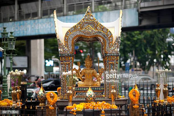 Erawan Shrine, a popular tourist landmark in Bangkok on August 17 the eve of the first anniversary of a bomb attack that killed 20 people. The August...