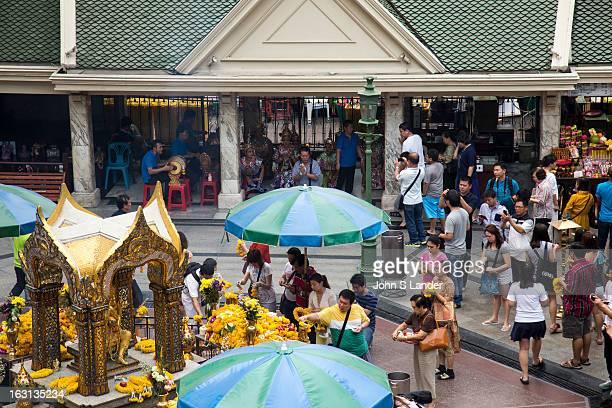 Erawan Shrine is a Hindu shrine in Bangkok that houses a statue of Phra Phrom, the Thai representation of the Hindu creation god Brahma. Erawan...