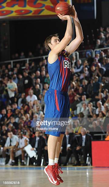 Erazem Lorbek #25 of FC Barcelona Regal in action during the 20122013 Turkish Airlines Euroleague Regular Season Game Day 4 between FC Barcelona...