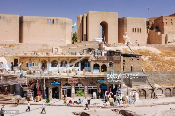 erbil citadel in iraqi kurdistan - アルビール ストックフォトと画像