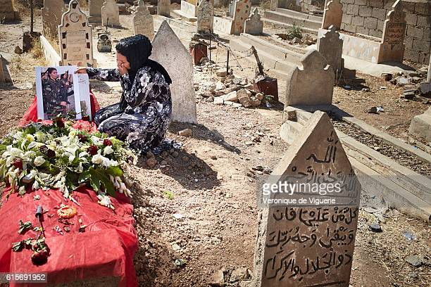 Mrs Hosseini is grieving on her 19yearsold daughter's garve Nigar was a Peshmerga fighting against ISIS when she was killed 3 days ago on the 6th of...