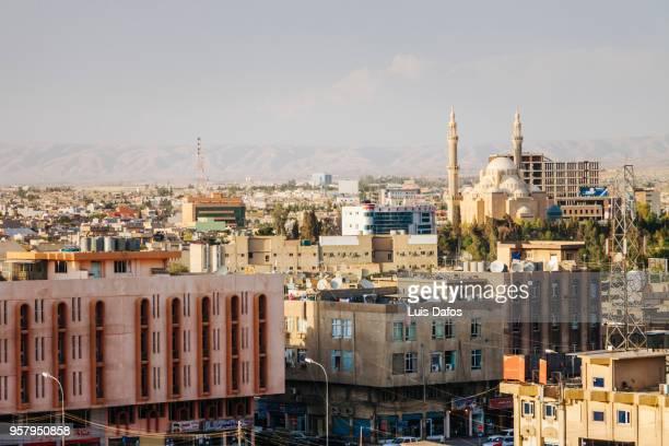 erbil overview - iraq stock-fotos und bilder