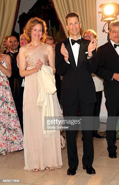 Erbprinz Alois Philipp Maria von und zu Liechtenstein and his wife Sophie Erbprinzessin von und zu Liechtenstein during the ISA gala at Schloss...