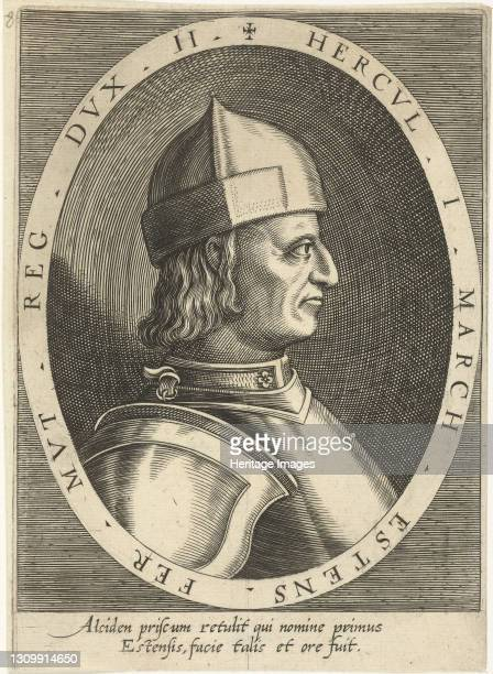 Ercole I d'Este , Duke of Ferrara, ca 1600-1603. Private Collection. Artist Custos, Dominicus . .