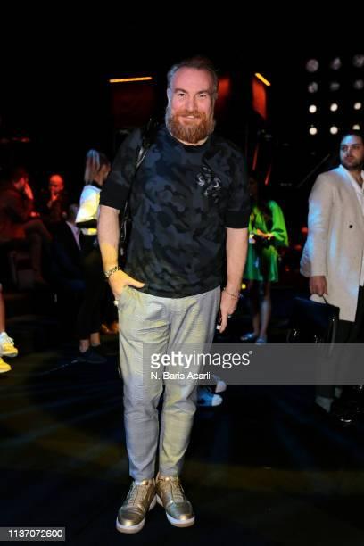 Erdal Guvenc attends the MercedesBenz Fashion Week Istanbul March 2019 at Zorlu Center on March 20 2019 in Istanbul Turkey