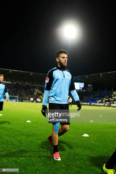 Erdal Rakip of Malmo FF during warm up ahead of the Allsvenskan match between IFK Norrkoping and Malmo FF at Ostgotaporten on October 16 2017 in...