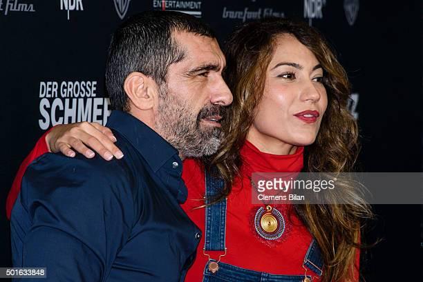 Erdal Yildiz and Esra Inal attend the 'Tatort Der Grosse Schmerz' premiere in Berlin at Kino Babylon on December 16 2015 in Berlin Germany