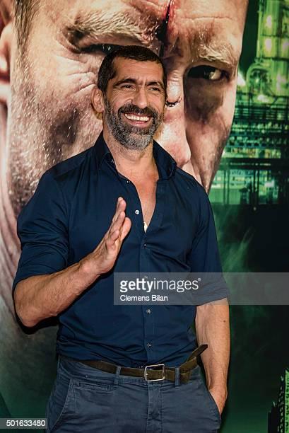 Erdal Yildiz attends the 'Tatort Der Grosse Schmerz' premiere in Berlin at Kino Babylon on December 16 2015 in Berlin Germany