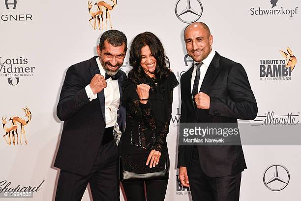 Erdal Yildiz Rabeah Rahimi and Arthur Abraham attend the Tribute To Bambi at Station on October 6 2016 in Berlin Germany