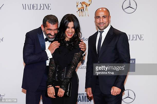Erdal Yildiz Rabeah Rahimi and Arthur Abraham attends the Tribute To Bambi at Station on October 6 2016 in Berlin Germany