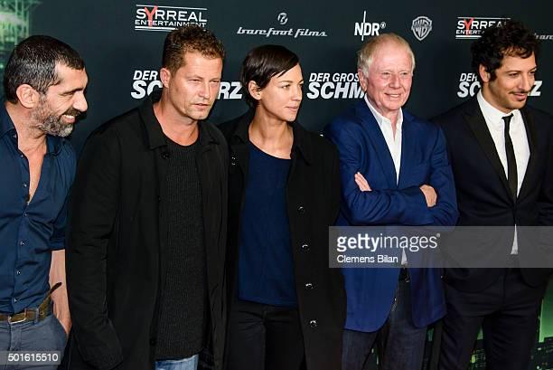 Erdal Yildiz Til Schweiger Marlene Shirley Wolfgang Petersen and Fahri Yardim attend the 'Tatort Der Grosse Schmerz' premiere in Berlin at Kino...