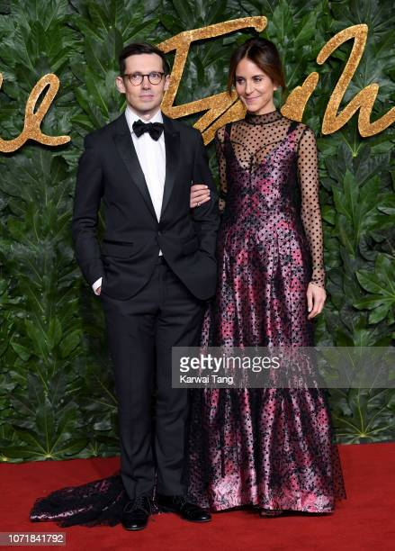 Erdem Moralioglu and Alison Loehnis arrive at The Fashion Awards 2018 In Partnership With Swarovski at Royal Albert Hall on December 10 2018 in...