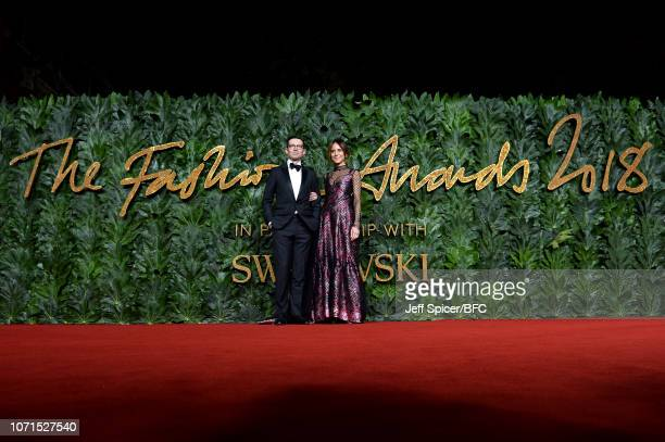 Erdem Moralioglu and Alison Loehnis arrives at The Fashion Awards 2018 In Partnership With Swarovski at Royal Albert Hall on December 10 2018 in...