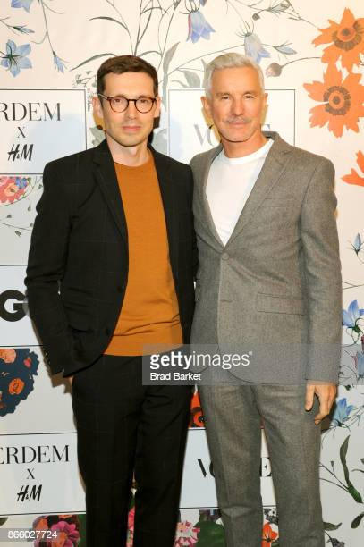 Erdem Moralioglu and Baz Luhrmann attend the ERDEM X HM Exclusive Event at HM Flagship Fifth Avenue Store on October 24 2017 in New York City