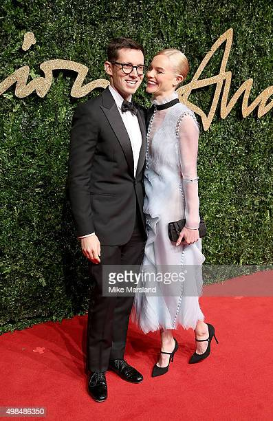 Erdem Moralioglu and Kate Bosworth attend the British Fashion Awards 2015 at London Coliseum on November 23 2015 in London England