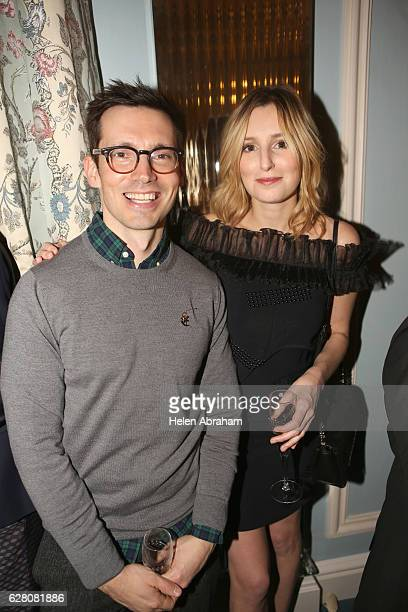 Erdem Moralioglu and Laura Carmichael attend the mytheresacom X Christopher Kane Christmas cocktail at The Lanesborough Hotel on December 6 2016 in...