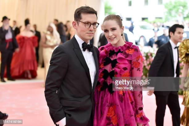 Erdem Moralioglu and Rachel Brosnahan attend The 2019 Met Gala Celebrating Camp Notes on Fashion at Metropolitan Museum of Art on May 06 2019 in New...