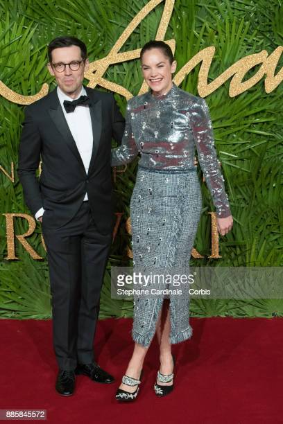 Erdem Moralioglu and Ruth Wilson attend the Fashion Awards 2017 In Partnership With Swarovski at Royal Albert Hall on December 4 2017 in London...