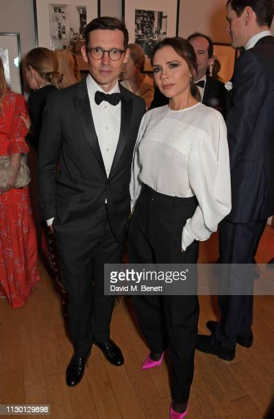 Erdem Moralioglu and Victoria Beckham attend The Portrait Gala 2019 hosted by Dr Nicholas Cullinan and Edward Enninful to raise funds for the...
