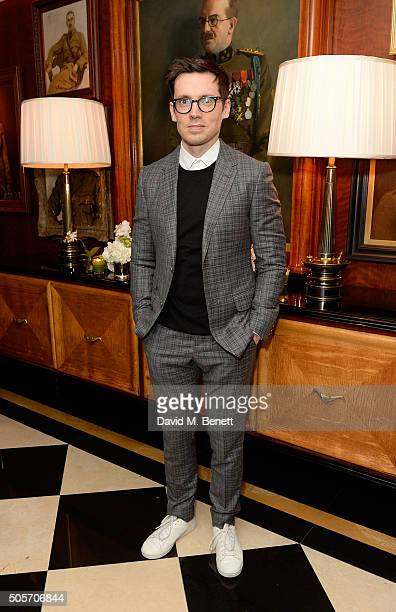 Erdem Moralioglu attends a dinner in honour of Justine Picardie to celebrate the book 'Dior by Avedon' at the Beaumont Hotel on January 19 2016 in...