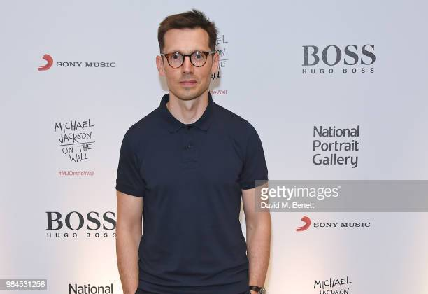 Erdem Moralioglu attends a private view of the Michael Jackson On The Wall exhibition sponsored by HUGO BOSS at the National Portrait Gallery on June...