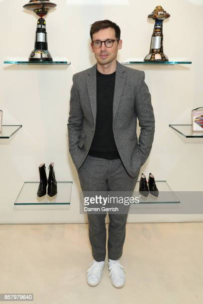 Erdem Moralioglu attends as Christopher Kane and Raw Vision celebrate the work of Ionel Talpazan at Christopher Kane on October 5 2017 in London...