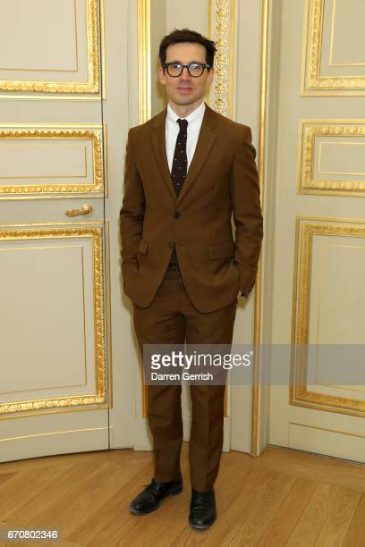 Erdem Moralioglu attends the Erdem x MATCHESFASHIONCOM dinner to celebrate its exclusive collection at Hotel de La Salle on April 20 2017 in Paris...