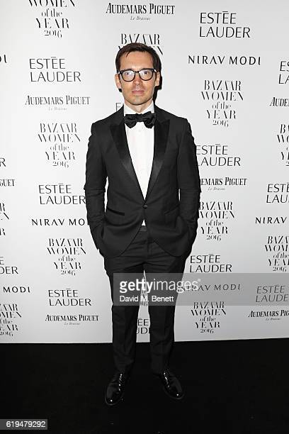Erdem Moralioglu attends the Harper's Bazaar Women of the Year Awards 2016 at Claridge's Hotel on October 31 2016 in London England