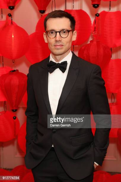 Erdem Moralioglu attends the Wendy Yu's Chinese New Year celebration at Kensington Palace on January 31 2018 in London England