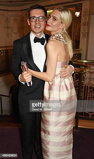Erdem Moralioglu, winner of The Establishment Award, and Poppy Delevingne attend the British Fashion Awards in partnership with Swarovski at the...