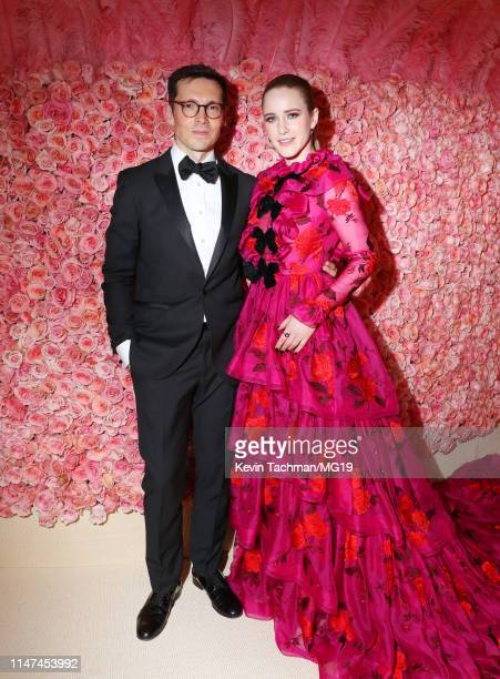 Erdem Moralıoğlu and Rachel Brosnahan attends The 2019 Met Gala Celebrating Camp Notes on Fashion at Metropolitan Museum of Art on May 06 2019 in New...