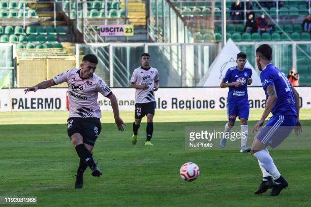 Erdis Kraja during the serie D match between SSD Palermo and Marsala at Stadio Renzo Barbera on January 05 2020 in Palermo Italy