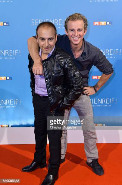 Erdogan Atalay and Daniel Roesner attend 'RTL Serienreif' Press Talk and Photcall at Trend Kueche und Club on September 18 2017 in Hamburg Germany