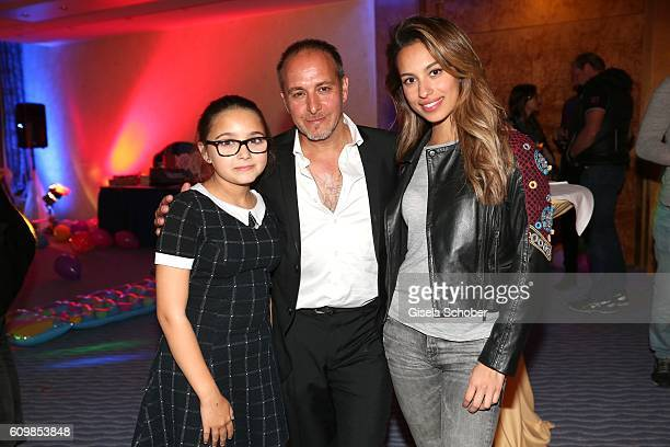 Erdogan Atalay and his film daughter Gizem Emre daughter Pauletta Amira Pollmann during the surprise party for Erdogan Atalay's 50th birthday at...