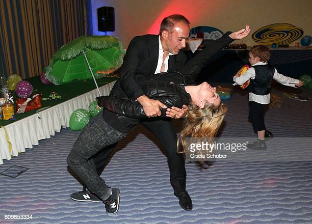 Erdogan Atalay and his partner Katja Ohneck dance during the surprise party for Erdogan Atalay's 50th birthday at Hotel Arkona on September 22 2016...