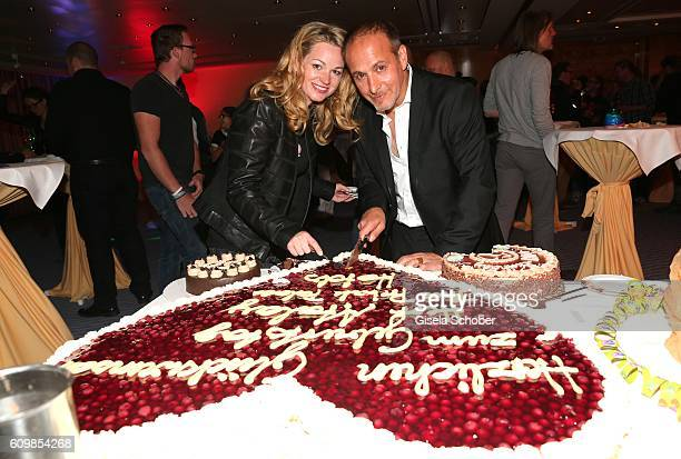 Erdogan Atalay and his partner Katja Ohneck during the surprise party for Erdogan Atalay's 50th birthday at Hotel Arkona on September 22 2016 in Binz...