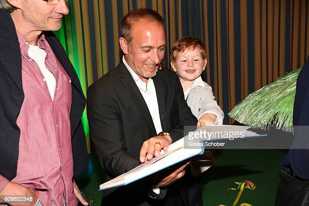 Erdogan Atalay and his son Maris Atalay during the surprise party for Erdogan Atalay's 50th birthday at Hotel Arkona on September 22 2016 in Binz...